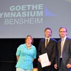 Judith Groen, Mathis Vondung und Jochen Breitenbach bei der Preisverleihung.